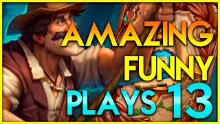 Hearthstone Amazing Plays #13 - Funny Lucky Epic Plays Moments - Top Deck