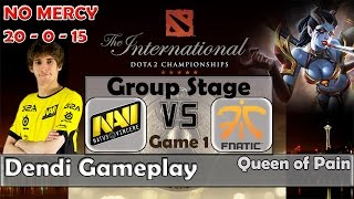 Dota 2 TI5 Groupstage | Na'Vi vs Fnatic Game 1 | Dendi - Queen of Pain Gameplay