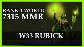 w33 Rubick Gameplay 7315 MMR Rank 1 World | Dota 2 Gameplay