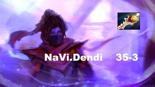 Dendi plays 4 vs 5 Templar Assassin | Gameplay Dota 2