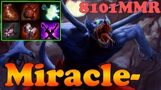 Dota 2 - Miracle- 8101MMR TOP 1 MMR Plays Night Stalker PRO ARMLET TOGGLE - Ranked Match