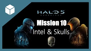 Halo 5 Guardians Mission 10, Enemy Lines All Collectibles (Intel and Skulls)