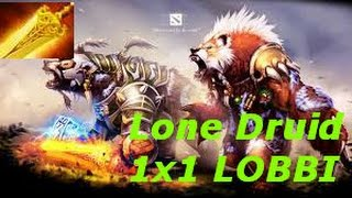 DOTA 2 - Lone Druid 1x1 - LOL