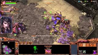 "BROOD LORD ARMY - Starcraft 2 Heart of the Swarm Brutal Playthrough Mission ""Planetfall"""