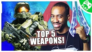 Top 5 Most POWERFUL Weapons in HALO! (Nerdist Play w/ Malik Fort