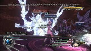 Final Fantasy XIII-2 Final Boss - Garnet, Amber, and Jet Bahamut