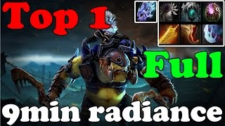Dota 2 - TOP 1 alchemist in dotabuff : Radiance in 9min and 1346GPM : Vol 2 - China Gameplay