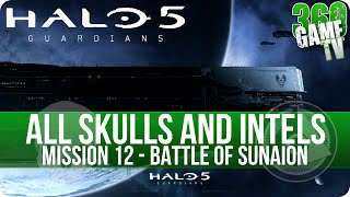 Halo 5 Guardians All Skull and Intel Locations Mission 12 Battle of Sunaion (Collectibles Guide P12)