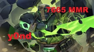 Y0nd Earth Spirit 7665 MMR plays RMM | Dota 2 Gameplay