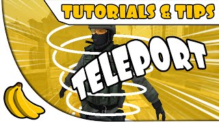 CS:GO - How to teleport using no hacks or plugins | BananaGaming