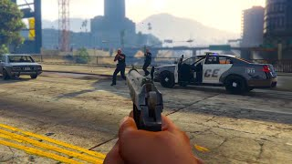 GTA 5 First Person: Epic Police Chase! (GTA 5 Next Gen Gameplay)
