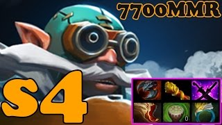 Dota 2 - s4 7700 MMR Plays Gyrocopter - Ranked Match Gameplay