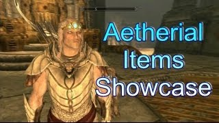 Skyrim Dawnguard Aetherial Crown, Shield, Staff Showcase!!! Xbox 360 HD!