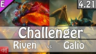 1846: BoxBox as Riven vs Galio Top - S5 Preseason Ranked Challenger Gameplay