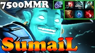 Dota 2 - SumaiL 7500MMR Plays Storm Spirit - Ranked Match Gameplay