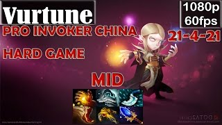 Vurtune - Pro Invoker CHINA | MID Hard Game | Dota 2 Pro MMR Gameplay