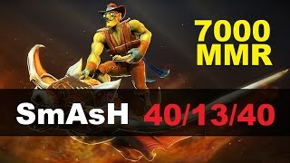 SmAsH plays Batrider 7000 MMR | Dota 2 Gameplay