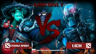 Storm Spirit VS Lich [Битва героев Mid only] Dota 2