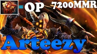 Dota 2 - Arteezy 7200 MMR Plays Clinkz - Ranked Match Gameplay