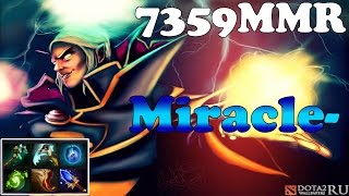 Dota 2 - Miracle- 7359MMR new top 1 mmr europe plays Invoker Vol 2# - Ranked Match Gameplay