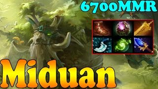 Dota 2 - Miduan 6700 MMR Plays Treant Protector Vol 1 - Ranked Match Gameplay!