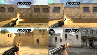 COMPARISONS ALL GUNS: CS:1.6 - CS:CZ - CS:S - CS:GO - [HD]