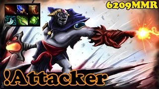 Dota 2 - !Attacker 6209 MMR Plays Lion - Ranked Match Gameplay