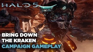 Bringing Down The Kraken Gameplay - Halo 5: Guardians