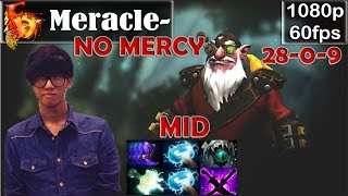 Meracle- (FD) - Sniper MID No MERCY | 28 Kills 0 Deaths | Dota 2 Pro MMR Gameplay