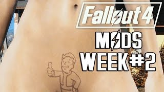 FALLOUT 4 MODS - WEEK #2: Pubic Hair, New V.A.T.S, Craft Weapons & More!