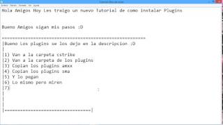 Como Poner Plugins Al Servidor Dedicado :D | Counter Strike 1.6
