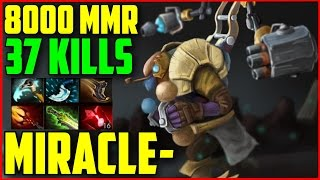 Miracle- 8000+ MMR Tinker 37 Kills | DOTA 2 gameplay