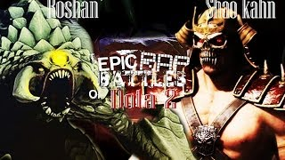 """Epic rap battle of DOTA"" Roshan VS Shao Kahn"