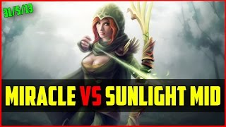 Miracle- (8K MMR) Windranger vs Sunlight Tinker | Ranked DOTA 2 gameplay