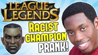 LEAGUE OF LEGENDS IS RACIST! - Prank Call - (New Black Champion)