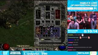 AGDQ 2016 Diablo II: Lord of Destruction with chat