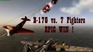 "War Thunder 7 downed fighters by Boeing B-17G ""Flying Fortress"" Gameplay"