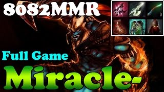 Dota 2 - Miracle- 8104MMR TOP 1 MMR in the World Plays Huskar - Ranked Match Gameplay