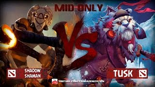 Shadow Shaman VS Tusk [Битва героев mid only в Dota 2]