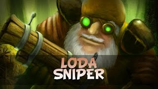 Loda Sniper| Dota 2 gameplay