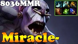 Dota 2 - Miracle- TOP 1 MMR IN THE WORLD 8036MMR Plays Witch Doctor - Ranked Gameplay