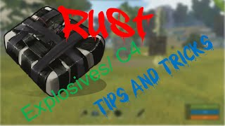 Explosives/ C4 TIPS AND TRICKS| Rust