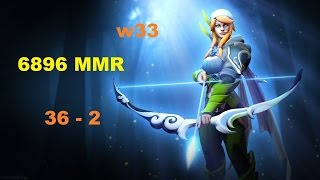 Windranger w33 7588 MMR | Dota 2 Gameplay
