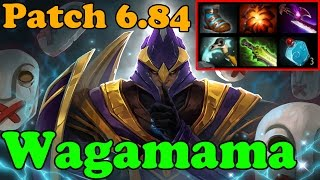 Dota 2 - Patch 6.84 - Wagamama 6795 MMR Plays Silencer - Pub Match Gameplay
