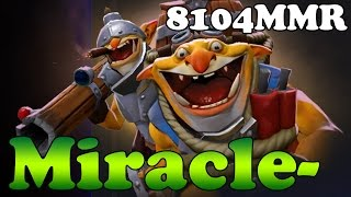Dota 2 - Miracle- 8104MMR TOP 1 MMR in the World Plays Techies vol 2 - Ranked Match