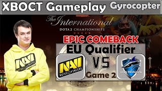 XBOCT - Gyrocopter gameplay | Na'Vi vs Vega game 2 | Most Epic Comeback TI5 EU Qualifier