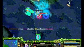 DotA  Aiushtha - Enchantress отжиг на роше !!! 2 VS 4