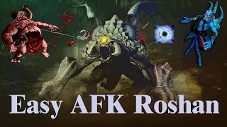 EASY AFK ROSHAN with Pudge and Lich | Dota 2 Secrets.