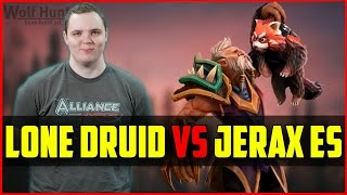 AdmiralBulldog Lone Druid vs Jerax Earth Spirit (& s4 puck, EGM zeus) | Ranked Dota 2 Gameplay