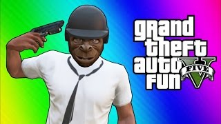 GTA 5 Online Funny Moments - Bullet Proof Helmet, Trolling Ohm, ATV Fun!